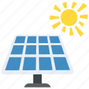 ecology concept, environmental technology, renewable energy, solar energy, solar panel icon
