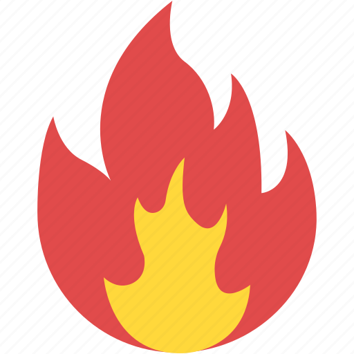 danger sign, fire blazing, fire flame, heat energy, wildfire icon