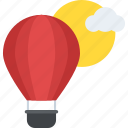 adventure, festive entertainment, flying balloon, outdoor fun, transportation icon