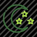 eco, ecology, moon, nature, organic icon