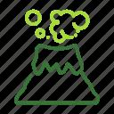 eco, ecology, nature, organic, volcano icon