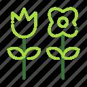 eco, ecology, flower, nature, organic icon