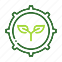 eco, ecology, gear, nature, organic icon