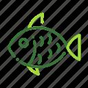 eco, ecology, fish, nature, organic icon
