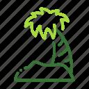 eco, ecology, island, nature, organic icon