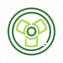 bio hazard, eco, ecology, nature, organic icon
