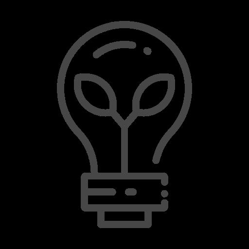 eco, ecology, leaf, light bulb, nature, organic icon
