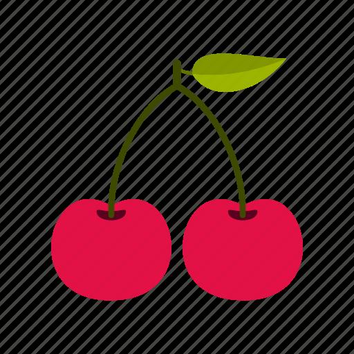 cherry, dessert, eating, food, fresh, health, nature icon