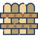 fence, garden, gardening, hedge, tree, wood icon