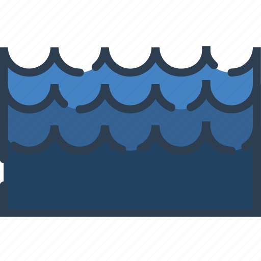 nature, ocean, river, sea, water, wave, weather icon