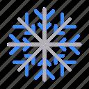 snow, snowflake, flake, winter, ice, nature icon