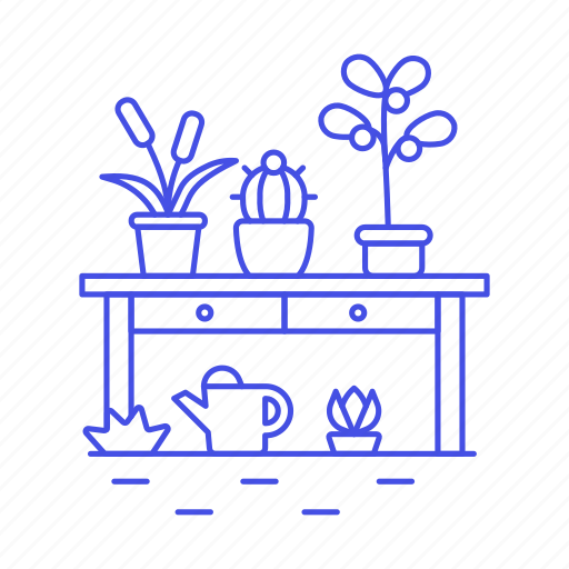 can, flowers, garden, gardening, nature, outdoors, plants, succulents, table, water, watering icon