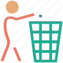 cleaning, dustbin, garbage cleaning, nature, trash can icon