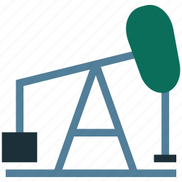 agricultural, gas well, oil drill, oil rig, oil well icon