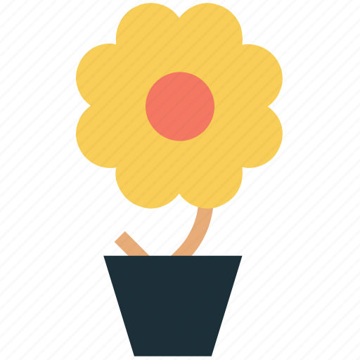 bloom, daisy, eco plant, ecology, floral, nature, plant, potted flower icon