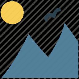 climbing, landscape, morning, morning nature, mountain, nature birds nature, sunlight icon