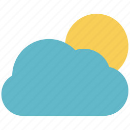 atmosphere, cloud, forecast, sun, sun and cloud, weather icon