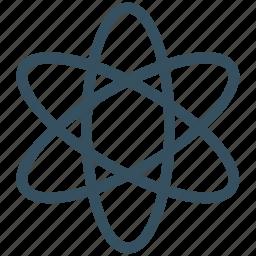atom, atom sign, atomic, biology, electron, helium atom, neutron icon