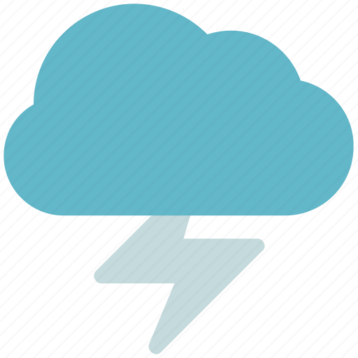 atmosphere, cloud, cloud with thunder, forecast, thunder, weather icon