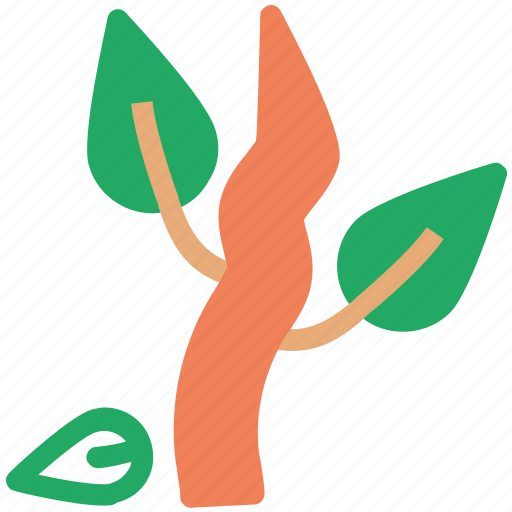 agriculture, eco leaf, ecology, foliage, leaf, leaf tree, leaf with roots, nature icon