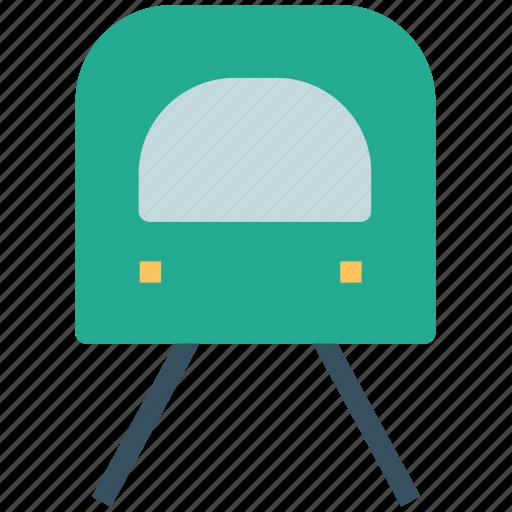 rail, rail transport, tain, train with rail track, transport, transportation icon