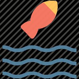 fish, fish in ocean, fish in river, fish in sea, river icon