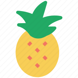ananas, fresh food, fruit, pineapple, sweet icon