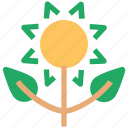 botanic, cultivated, eco, ecology, flower, leaf, nature, plant icon