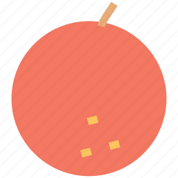 fresh fruit, fruit, orange, orange fruit icon