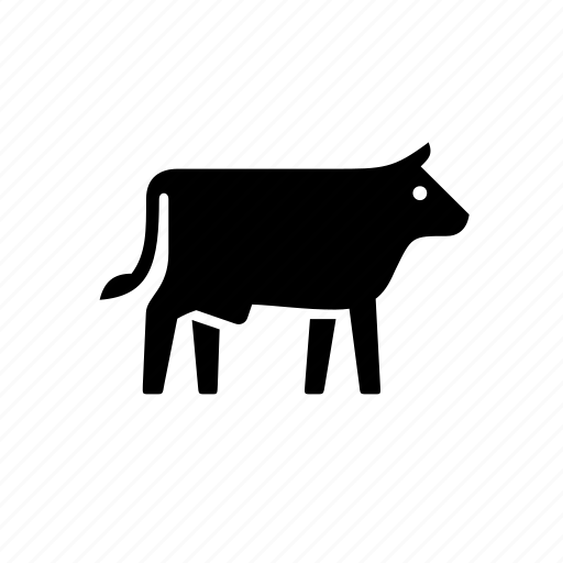 agriculture, animal, bull, cow, farm, milk, nature icon