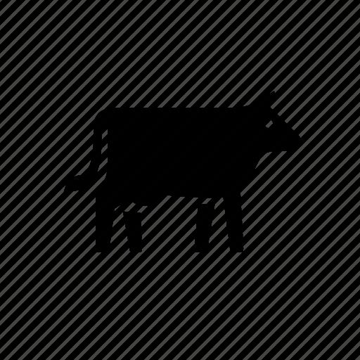 agriculture, animal, cow, farm, milk, nature icon