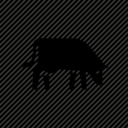 agriculture, animal, cow, farm, feeding, milk, nature icon