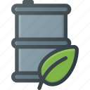 barrel, bio, eco, protect, waste icon