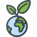 bio, earth, eco, global, globe, planet icon