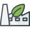 bio, eco, factory icon