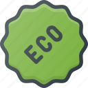 bio, eco, sticker, tag icon