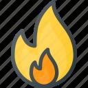 fire, burn, flame