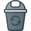 bin, can, garbidge, recycle, trash, waste icon