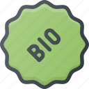 bio, sticker, tag icon