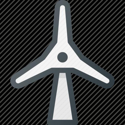 ecology, electricity, turbine, wind icon
