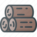cut, log, tree, wood icon