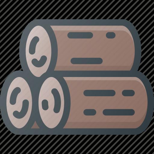 cut, log, tree, wood icon