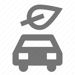 car, leaf, nature, plant, transportation icon