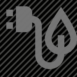 electricity, leaf, nature, plant, plug icon
