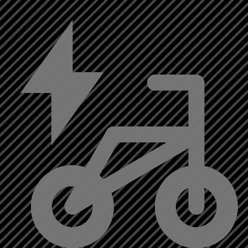 bike, electric, flash icon