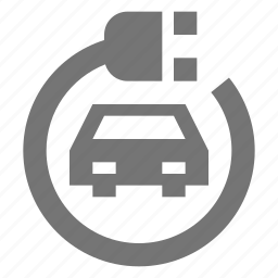 car, electric, plug icon