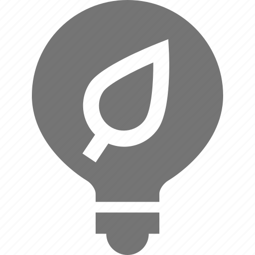energy, leaf, lightbulb, nature, plant icon