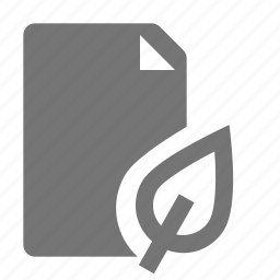 document, file, leaf, nature, paper, plant icon