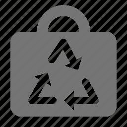 arrows, bag, recycle icon