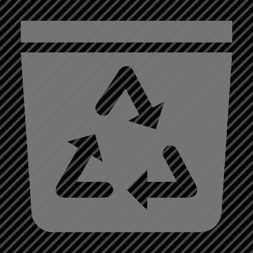 arrows, bin, recycle, trashcan icon